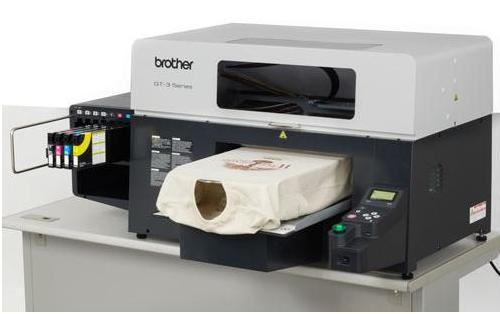 GT-341 Series Garment Printer with CMYK and 2 White Print Heads