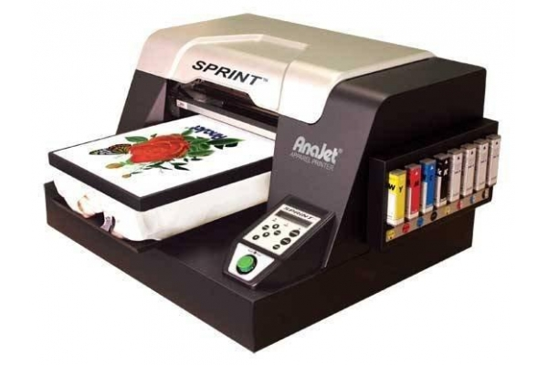 128685ff AnaJet® is a U.S. (California) based company that produces the AnaJet  Sprint DTG printer (Direct-To-Garment).